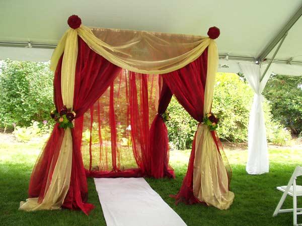 Mandap decor tips wedding mandap decorations ideas tips for Indian wedding decoration ideas home